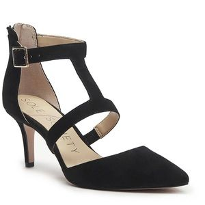 Sole Society Edelyn Black Suede Pump